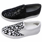AnnaKastle New Womens Web Slip-Ons Fashion Sneakers Skate Shoes