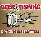Beer and Fishing Funny T-Shirt 5 Different Color Tees Sizes-S,M,L,XL,2XL,3XL,4XL