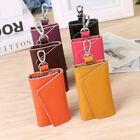 Men Women Leather Key Bag Keychain Credit Card holder Keyholder Case Purse