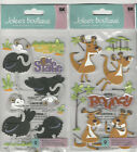 U CHOOSE  Jolee's OSTRICH KANGAROO 3D Stickers animals