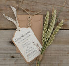 Brown Kraft And Vintage Cream Save the Date Tags Choice Of Matching Envelopes