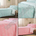 HEARTS FLANNELETTE THERMAL QUILT DUVET COVER PILLOWCASE SET PINK BLUE NEW