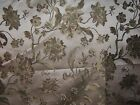 Highland Court fabric remnant for crafts floral embroidered brocade Isadora