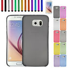 Ultra Thin  Matte Semi Transparent Back Skin Case Cover for Samsung Galaxy S6 E1