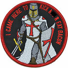 I Came Here To Kick A** and Eat Bacon Knights Templar- 4 inch Round Patch