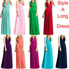 NEW Womens Bridesmaid Infinity Convertible Wrap Long Maxi Dress Bandage Dress