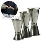 Внешний вид - 3 Size Jigger Single Double Shot Cocktail Wine Short Measure Cup Drink Bar Party