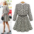 Sexy Womens Floral Summer Casual Long Sleeve Mini Dress Party Dress Excellent