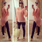 2015 Women's Lady Loose Long Sleeve Chiffon Casual Blouse Shirt Tops Blouse