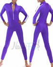 Sexy Purple,White Stripe Jumpsuit,Unitard,Bodysuit Dance Costume S-3XL
