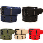 Womens Mens Cotton Casual Canvas Plain Webbing Waistband Casual Canvas Belt