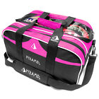 Pyramid Path Double Tote Plus Clear Top Bowling Bag - Black/Hot Pink
