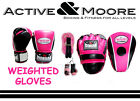 MORGAN WEIGHTED LADIES PACK BOXING GLOVES PINK FOCUS PADS UFC MMA PT HOME GYM
