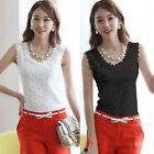 New Arrival Sexy Women Lace Tank Top Sleeveless T-shirt Vest Camisole Blouse