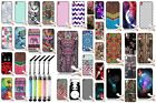 For HTC Desire 816 TPU Silicone Rubber Skin Design Cover Case + Crystal Stylus
