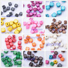 100pcs Charms Square Wood Spacer Beads Jewelry Making 6x6MM 14 Color U Pick