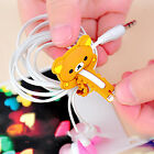 1 5 10Pcs Cartoon animal Earbud Earphone Computer Cord Cables Winder Wire Holder