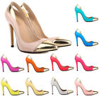 WOMEN'S SEXY HIGH HEELS PATENT LEATHER STILETTOS PLATFORM PUMPS PARTY WORK SHOES
