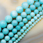 "Natural Amazonite Gemstone Round Spacer Loose Beads 15.5"" 4mm 6mm 8mm 10mm 12mm"