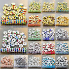 100Pcs Czech Crystal Rhinestone Wavy Rondelle Spacer Beads 4-10mm Gold& Silver