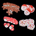 50± Holiday Christmas Party Paper Gift Tags Wedding Scallop Label Note Cards lot