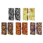 HEAD CASE DESIGNS PAISLEY PATTERNS 2 LEATHER BOOK CASE FOR SAMSUNG PHONES 1
