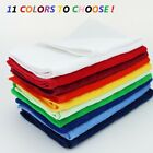 12 NEW HEMMED FINGERTIP TOWELS 100% COTTON EMBROIDERING 11 COLORS TOO CHOOSE