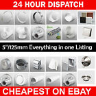"""5"""" 125mm Plastic Round Kitchen Ducting Ventilation Duct Pipe Tube Extractor Fan"""