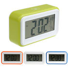 Digital Snooze Desk Electronic LED Alarm Clock Light Time Calendar Thermometer