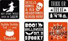 Set of 6 Vinyl Decal Stickers For Glass Blocks Halloween Fall Gifts Home Decor