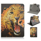 "New Animal Print PU Leather Flip Stand Universal Tablet Case Cover For 7""Tablets"