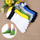 2 pairs Breathe Pure Cotton Men's Sports Five Finger Toe Socks