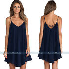 NEW Women Summer Sexy V Neck Sleeveless Strap Party Cocktail Evening Short Dress