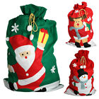 Giant Christmas Santa Sack Red Green Stocking Bag Gift Presents Xmas Tree Fabric