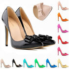 Womens High Heels Corset Pumps Court Patent Leather Party Shoes US Size 4-11