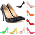 Womens High Heels Corset Pointed Style Pumps Patent Rivets Work Shoes Size 4-11