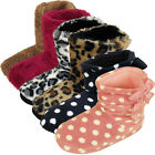 Womens Quality Furry Bootee Ankle Boot Slipper Ladies Eskimo Slippers Yetti 3-8