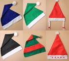 COLOURED SANTA HATS, ELF, GNOME, SMURF, BAH HUMBUG, FANCY DRESS, COSTUME, UNISEX