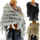 Shawl poncho Scarf Fur Rabbit Angora Mantle -MARIA - Woman - CharlesElie94