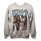 Kiss Sweatshirt Unisex Glam Metal Rock Vintage Style Graphic Jumper  S-XL