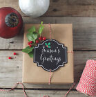 Assorted Coloured Christmas Chalk Tag Kit with Kraft Wrapping Paper Sheets