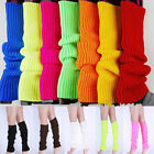 Fashionable ! Neon Color Women Leg Warmers Plain Knitted Stocking Socks Gloves