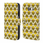 HEAD CASE DESIGNS BUSY BEE PATTERNS LEATHER BOOK CASE FOR SAMSUNG PHONES 1