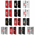 LIVERPOOL FC CREST 1 LEATHER BOOK WALLET CASE COVER FOR HTC PHONES 1