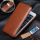Luxury Vertical Flip Genuine Leather Card Slot Cover Case for iPhone 6 /6 Plus