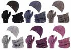 Heat Holders - Womens Thermal Hat, Neckwarmer, Fingerless converter Gloves set