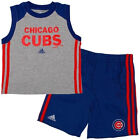 Infant Chicago Cubs Short Set adidas MLB Base Hit 2-piece Baseball Baby