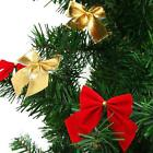 12pcs Bow Christmas Tree Decoration Xmas Hanging Ornament Bowknot Party Decor JJ