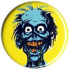 New Zombie Face Yellow Badge