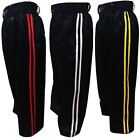 Kickboxing Training trousers / Pants Black with stripes satin kids / Adult